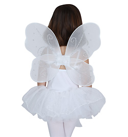 White & Silver Butterfly Wings - Style No 21823x