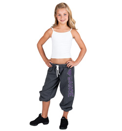 "Child ""LOVE DANCE"" Rhinestone Sweatpants - Style No 24580Cx"