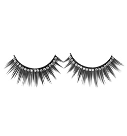 Rhinestone Eyelashes with Glue - Style No 2482