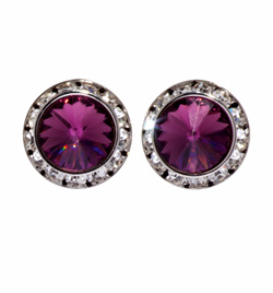20MM Crystal Earring- Post - Style No 2708