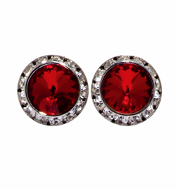 15MM Crystal Earring-Clip On - Style No 2710C