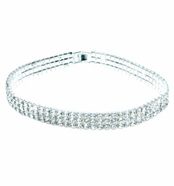 "Rhinestone Elastic Choker 13.75"" - Style No 2792B"