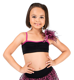 Girls Camisole Bra Top with Poof - Style No 3017