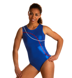 Child Ocean Blues Striped Leotard - Style No 3594C
