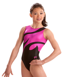 Child Berry and Black Leotard - Style No 3621C