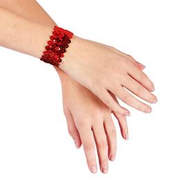 Girls Sequin Cuffs - Style No 4647