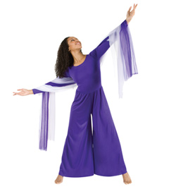 Worship Long Sleeve Jumpsuit Plus Size - Style No 569XX