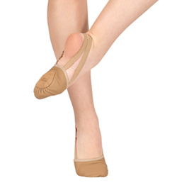 "Adult ""Twyla II"" Leather Half Sole Slipper - Style No 621A"