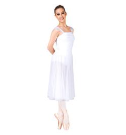 Adult Drop Waist Chiffon Dress  - Style No 7889