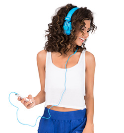 Blue Stereo Headphones - Style No 79703