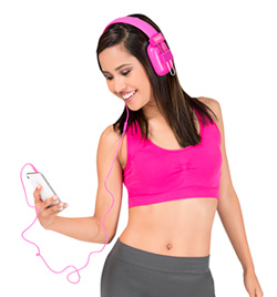 Magenta Stereo Headphones - Style No 79706