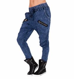 Adult Zipper Pocket Denim Harem Pants - Style No 82212md