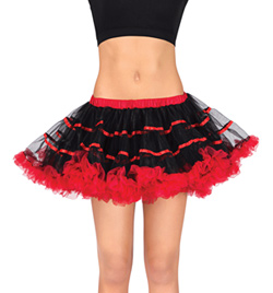 Adult Two-Tone Tutu With Ribbon Trim - Style No A1711