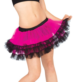 Tutu Skirt With Black Trim And Bow - Style No A1713