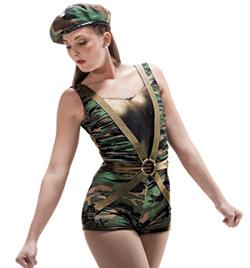 """G.I. Jane"" Adult Tank Unitard - Style No AS1030"