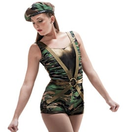 """G.I. Jane"" Girls Tank Unitard - Style No AS1030C"