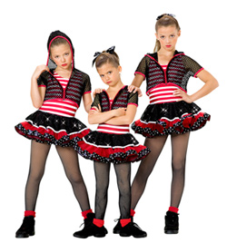 """Slow Down"" Girls Costume Set - Style No AS1031C"