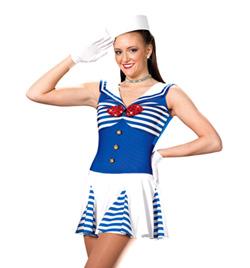 """Hey Sailor"" Girls Tank Dress - Style No AS1035C"