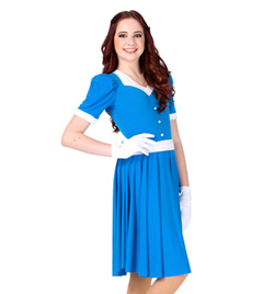 """Doris"" Girls Short Sleeve Dress - Style No AS1107C"
