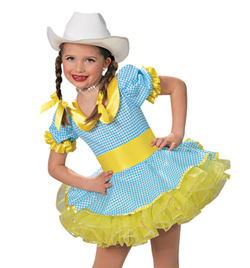 """""""Cowgirl"""" Girls Short Sleeve Dress - Style No AS1108C"""