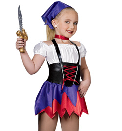 """Lady Pirate"" Girls Costume Set - Style No AS1111C"