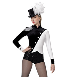 """Ringmaster"" Girls Long Sleeve Shorty Unitard - Style No AS1122C"