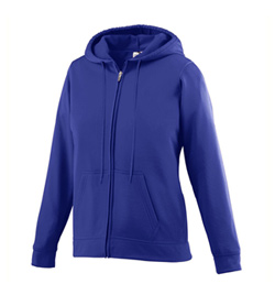 Ladies Fleece Full Zip Hooded Sweat Shirt - Style No AUG5525