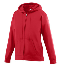 Ladies Plus Size Fleece Full Zip Hooded Sweat Shirt - Style No AUG5525P