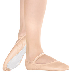 Girls Leather Full Sole Ballet Slipper - Style No BA90C