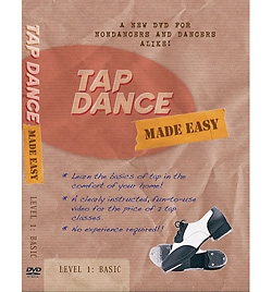 Tap Dance Made Easy - Vol. 1 Basic DVD - Style No BRRBP102DVD