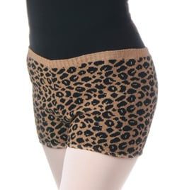 Adult Cheetah Print Dance Short - Style No C305
