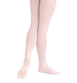 Child Mesh Back Seam Convertible Tight - Style No C45