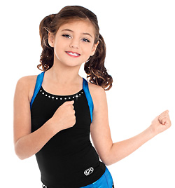 Child Electric Racerback Cheer Top - Style No CB139C