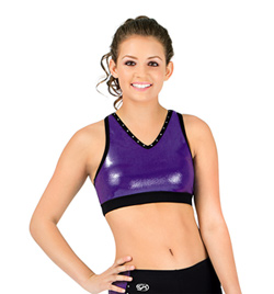 Adult Mesh Back Crop Top - Style No CB146