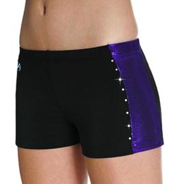 Girls Side Stripe Cheer Short - Style No CB533C