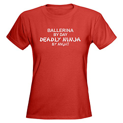 Women Ballerina Deadly Ninja T-Shirt - Style No CP470