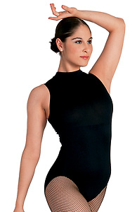 Adult Sleeveless Mock Turtleneck Leotard - Style No D1031x