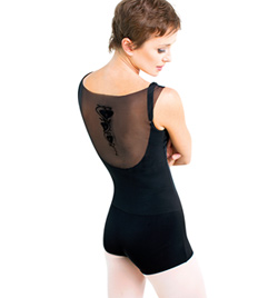 Adult Mesh Shorty Tank Unitard - Style No DA1265M