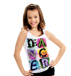 Child Dancer Burnout Tank Top - Style No DA293C