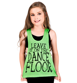 "Child ""Leave it on the Dance Floor"" Lace Tank Top - Style No DA333C"