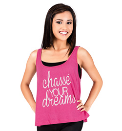 "Adult ""Chasse Your Dreams"" Cropped Tank Top - Style No DA358"