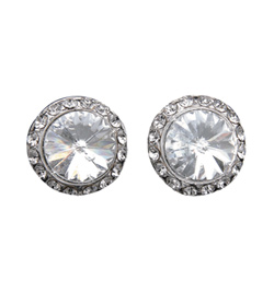 8mm Celestial Button Clip-On Earrings - Style No EC8AS