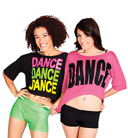 """Adult Oversize Crop Tee """"DANCE"""" - Style No FD0100"""
