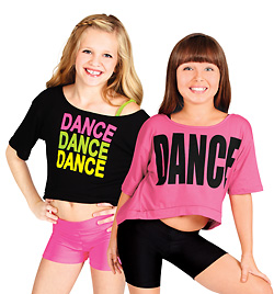 "Child Oversize Crop Tee ""DANCE"" - Style No FD0100C"