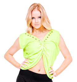 Child Draped Tie-Back Top - Style No FD0149C