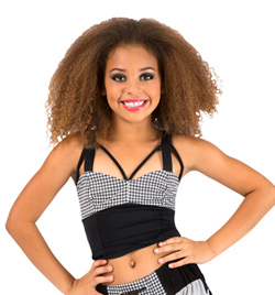Child Houndstooth Camisole Bustier Top - Style No FD0167C