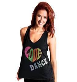 "Adult ""Love Dance"" Tank Top with Criss Cross Back - Style No FD0184"