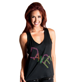 """Girls """"Dance"""" Tank Top with Criss Cross Back - Style No FD0185C"""