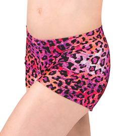 Girls Leopard Dance Shorts - Style No FD0201C