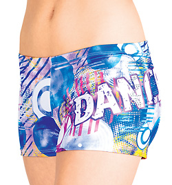 "Adult ""DANCE"" Studded Graffiti Short - Style No FD099"